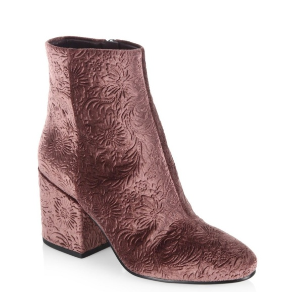 efd3edc9a949 NWT Sam Edelman Taye Floral Velvet Ankle Booties
